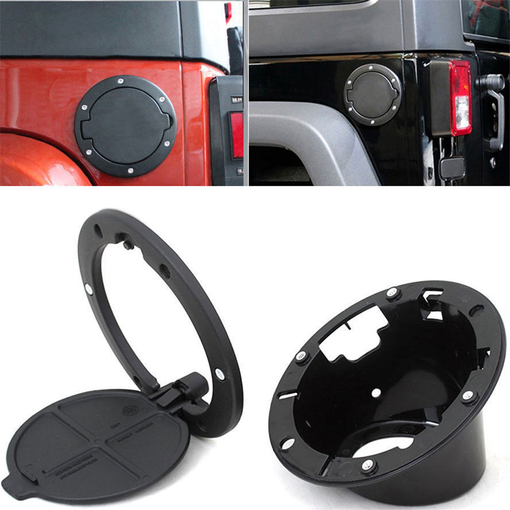 Yaquicka auto car gas oil fuel tank cap cover fit for jeep wrangler 2007 2015