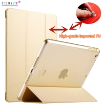 New PU Case For Apple ipad Air 2 (2014 ): A1566`A1567 case ,PU Leather Smart Cover + PC Auto Sleep protective shell-YCJOYZW