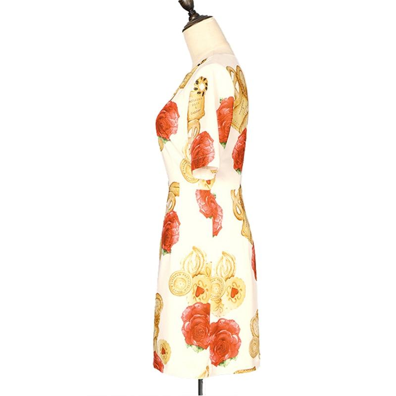 As Picture Imprimé D'o Femmes Robe Au 2018 Casual Mode Printemps Slim Gros Gratuite Demi Détail Manches Livraison cou Et De En 0OwxRqfHa