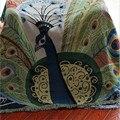Северная Европа хлопок нить Павлин бросок пылезащитный чехол один/двойной размер диван одеяло покрывало Бесплатная доставка