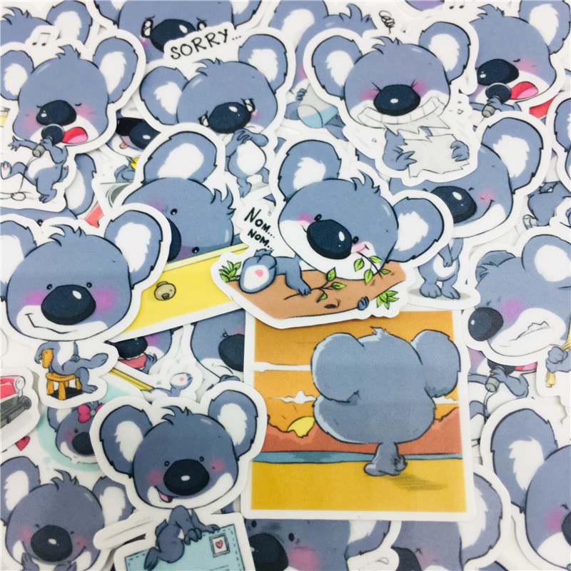 40 Pcs Mixed Meng Koala Stickers For Car Styling Bike Motorcycle Phone Laptop Travel Luggage Cool Funny Sticker Bomb Decals