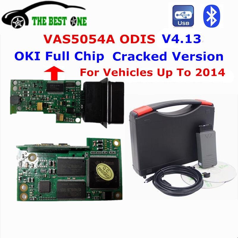 Prix pour 2017 Meilleur VAS5054A OKI Plein Puce VAS 5054A ODIS V4.13 De Diagnostic Scanner VAS5054 ODIS VAS UDS de Soutien OBD 2 Bluetooth USB Pour VW