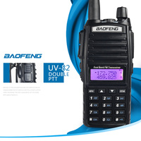 2 PCS Baofeng UV 82 UV82 UV 82 Portable Walkie Talkie Two Way Ham VHF UHF Radio Station Transceiver Boafeng Woki Toki Amateur