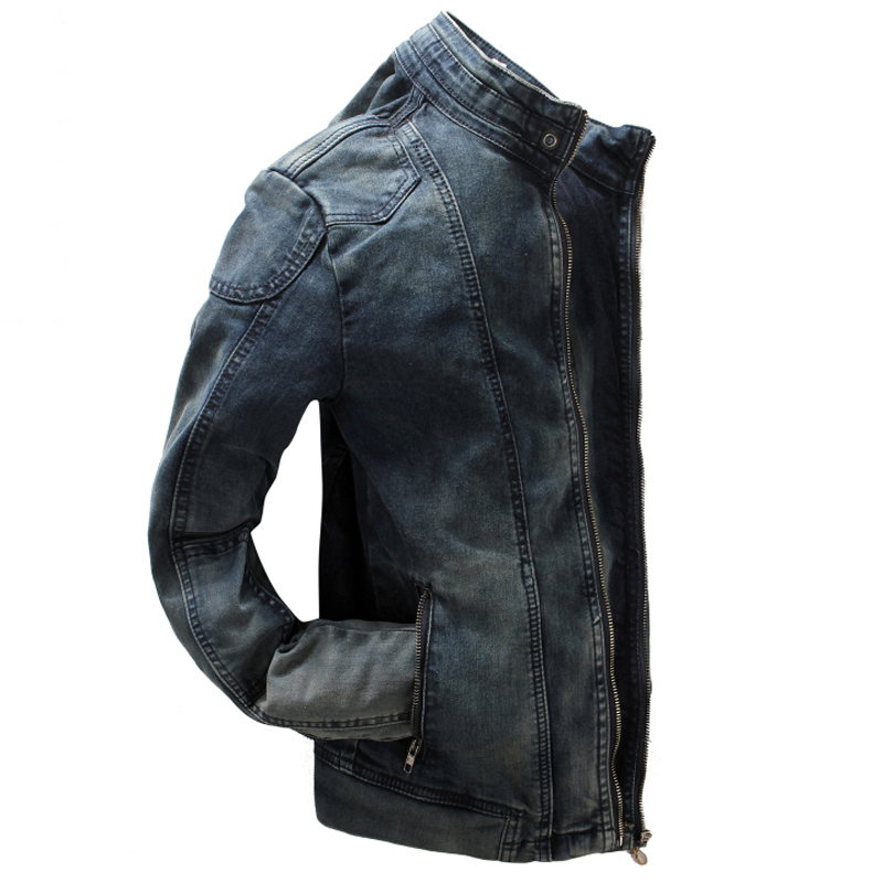 Cowboy Denim Jackets For Men Spring and Autumn Style Vintage Mens Jeans Jackets Slim Fit Personality Men Brand Clothing C1432 italian style fashion men s jeans shorts high quality vintage retro designer classical short ripped jeans brand denim shorts men
