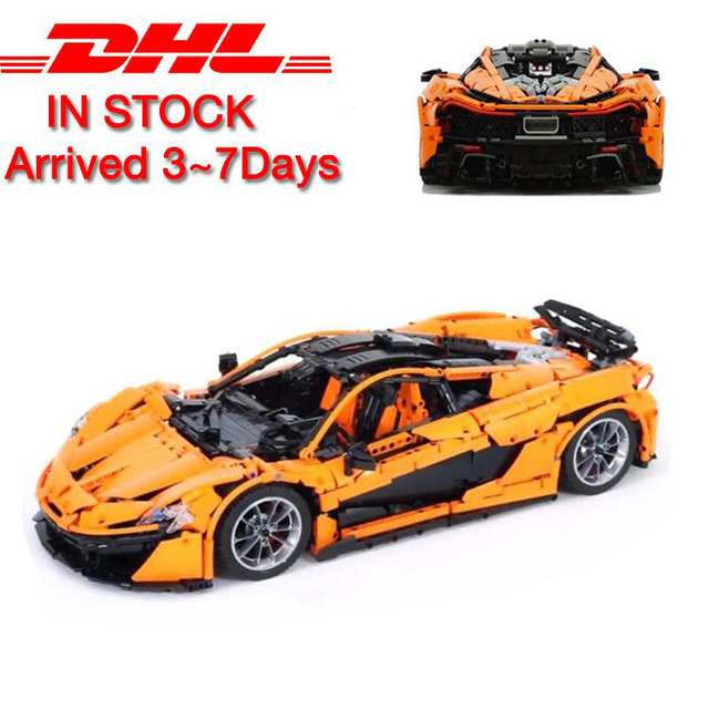 The MOC-Orange Super Racing Car Set 3725pcs compatible with lego in building block kits model brick toy Car for Children
