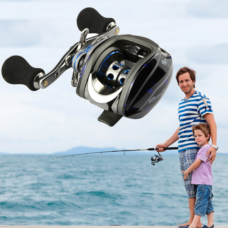 Professional Fishing Reel Ball Bearing 12+1 BB Gear Ratio 6.3:1 Left Right Hand Baitcast Reels High Tensile Bait Casting Reels