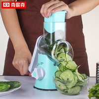 Stainless Steel 4 In 1 Rotary Shredder Adjustable Spiral Slicer Grater Fruit Vegetable Cutter For Kitchen
