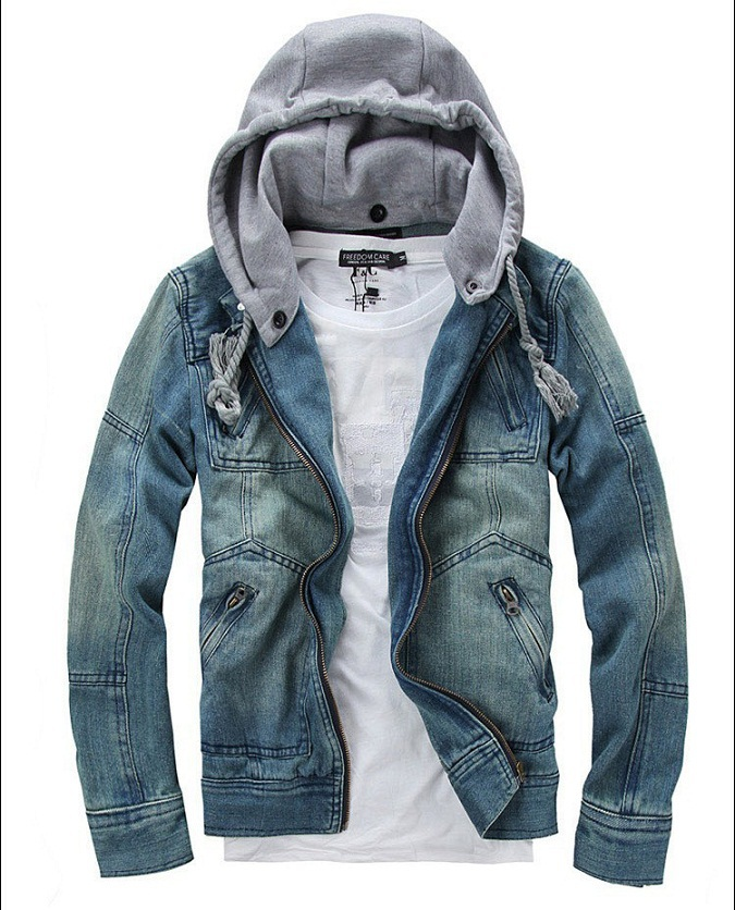 Free Shipping 2017 New Men S Casual Denim Jackets Hooded Winter