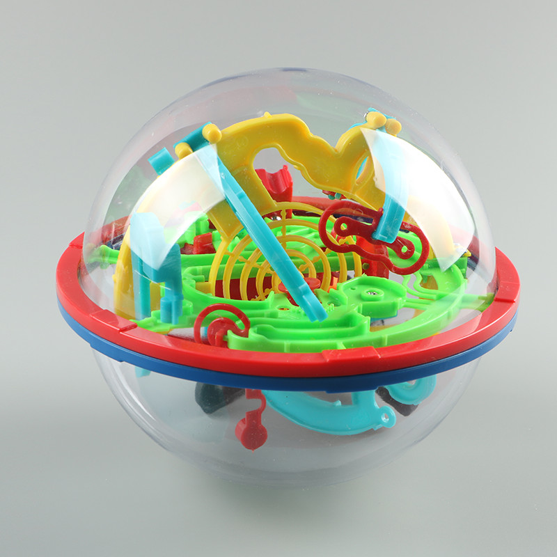 Large 100 Steps 3D Magic Intellect Maze Ball Track Puzzle Toy Perplexus Epic Game Children Adult Stereo Maze Balls Toys For Kids