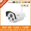 Hd 720 p Wi-fi Câmera Ip 1.0mp Onvif À Prova D' Água Inteligente Rede de Vigilância Cctv Night Vision Webcame Casa Ao Ar Livre Freeshipping