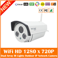 Hd 720p Wifi Ip Camera 1.0mp Onvif Waterproof Smart Outdoor Home Network Cctv Surveillance Night Vision Webcame Freeshipping