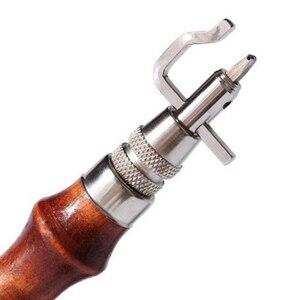 Image 3 - 5 в 1 профессиональный набор для прессования краев и кожевенного ремесла Регулируемый инструмент для сшивания и углубления кожевенного шва инструменты для шитья аксессуары