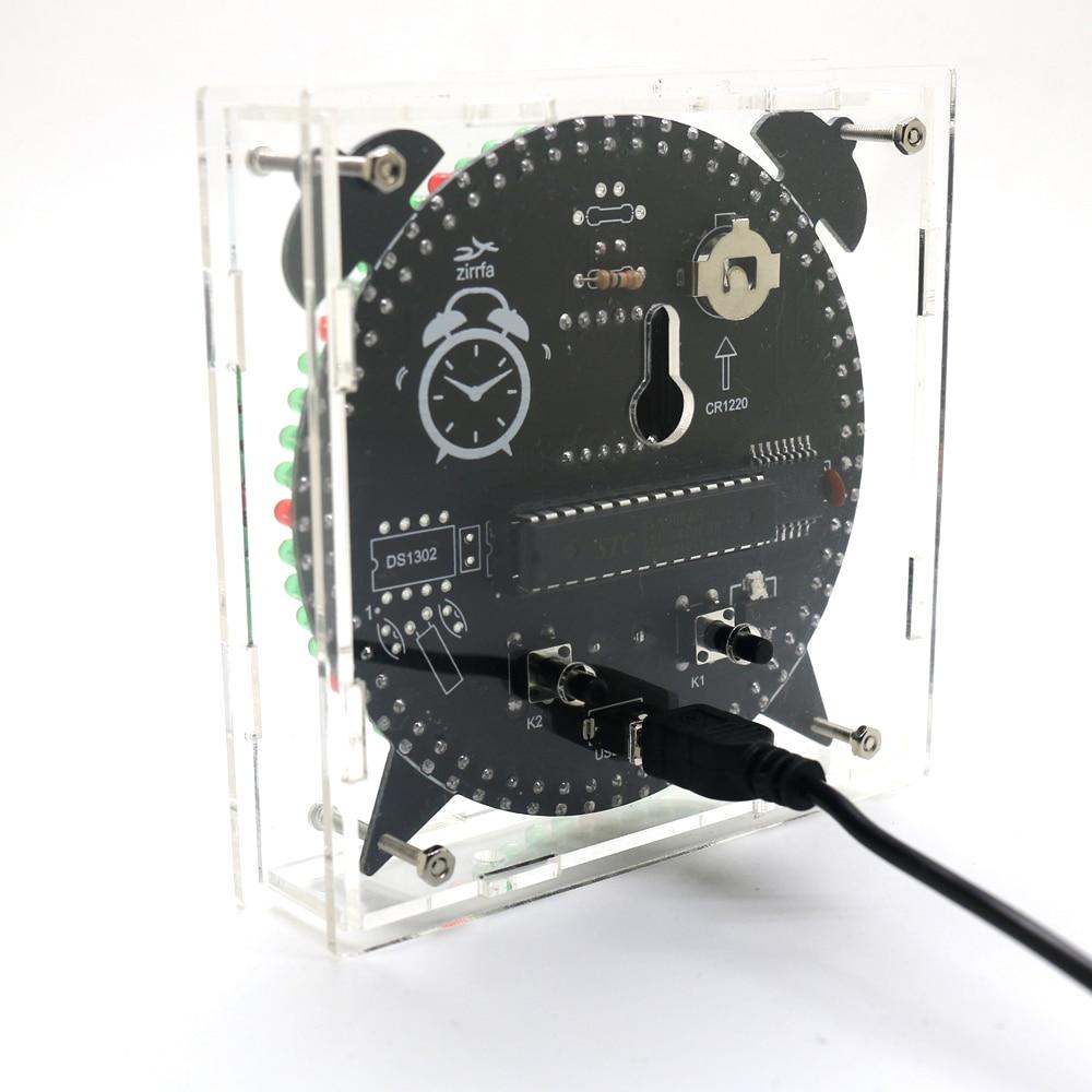 alarm clock zirrfa Rotating DS3231 Digital LED Display Module Alarm Electronic Digital Clock Temperature DIY Kit Learning Board 5V New (3)