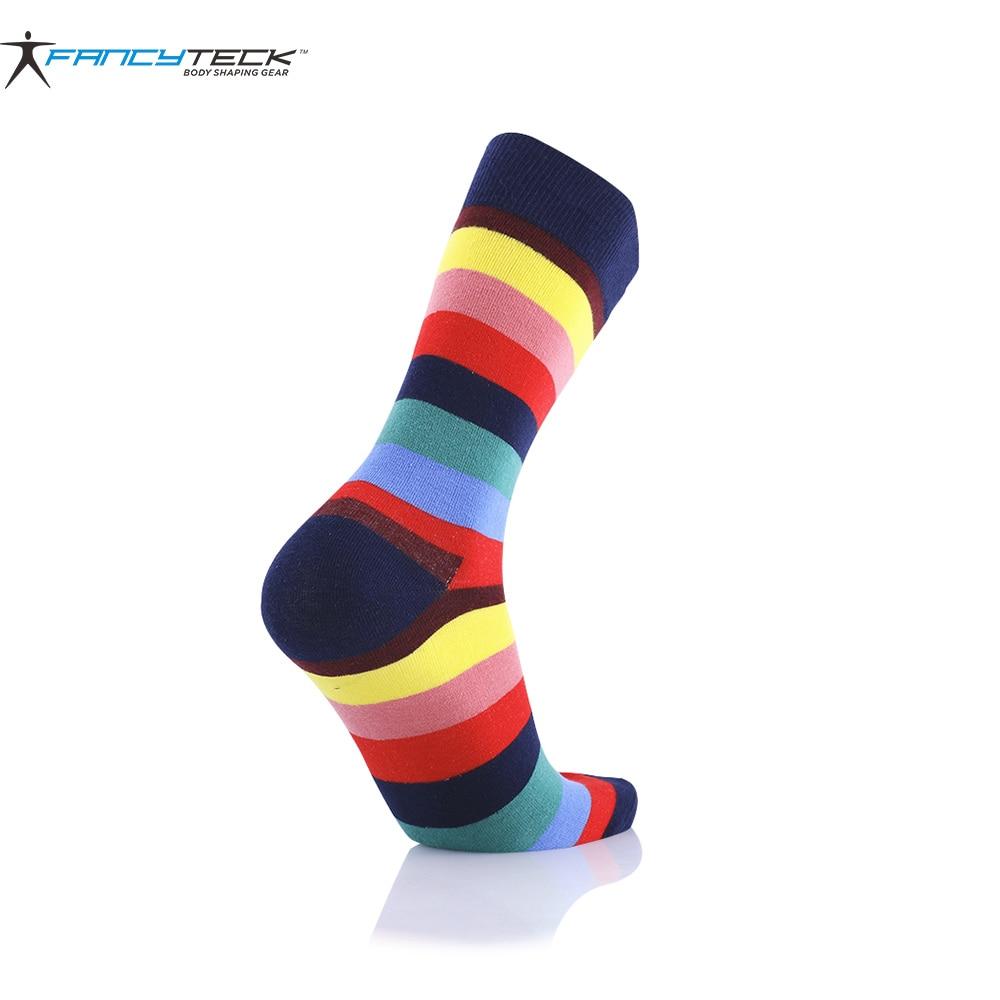3 Pair Mens Colorful Sock Casual Mens Socks Chromatic Stripe Six Pairs Of Socks Mens High Compression Socks Gift