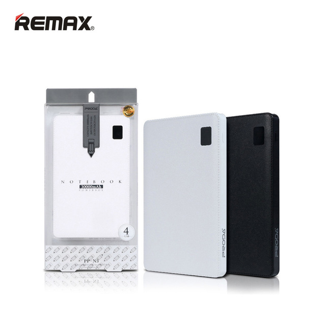 Remax proda notebook mobile power bank 30000 mah 4 usb carregador de bateria externa para iphone6/7 plus para ipad para celulares com android