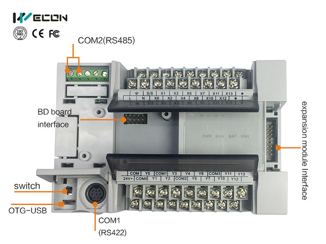 US $172 0 |Wecon 24 Points Programmable Logic Control Spanish PLC  software-in Industrial Computer & Accessories from Computer & Office on