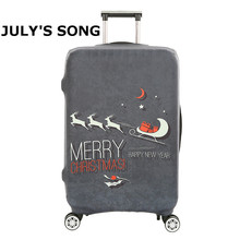Christmas Deer Pattern Travel Luggage Protective Suitcase Cover Luggage Cover Apply To 18~32 Inch Case Excellent Elastic Covers
