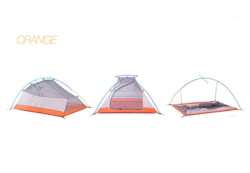 2015New 1.8kg 3 Person 20D Silicone Fabric Tent Double-layer Camping Tent Outdoor Tent NH15T003-T20D80