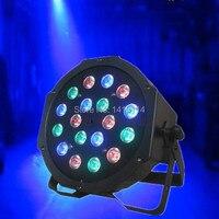 Günstige disco licht preis 18 stücke x1w RGB led flach par kann licht dj dmx512 bühne beleuchtung professionelle disco bar|Bühnen-Lichteffekt|Licht & Beleuchtung -