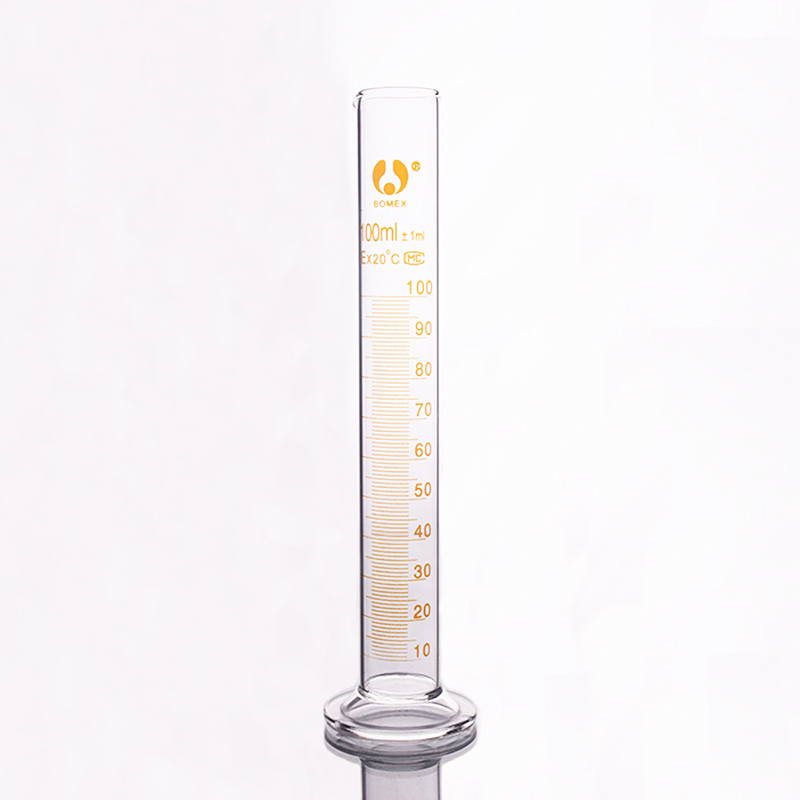 High Borosilicate Glass Measuring Cylinder,Capacity 100ml,Graduated Glass Laboratory Cylinder
