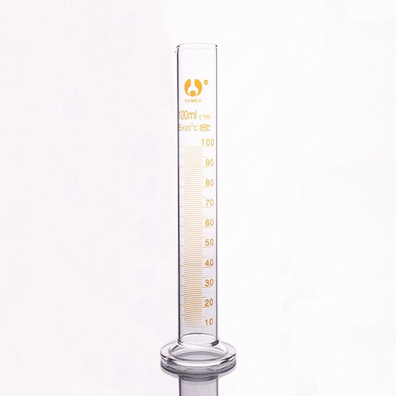 High borosilicate glass measuring cylinder,Capacity 100ml,Graduated Glass Laboratory Cylinder