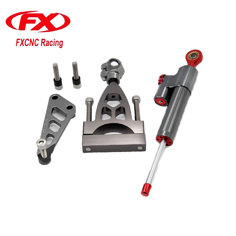 For HONDA CB400 VTEC 1999-2010 Aluminum Motorcycle CNC Adjustable Steering Damper Stabilizer Mounting Bracket Support Kits free shipping for honda cb400 vtec 1999 2010 motorcycle aluminium steering stabilizer damper mounting bracket kit