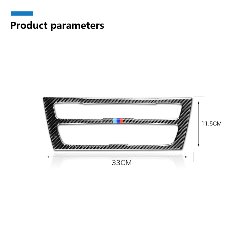 Airspeed for BMW F20 F21 1 Series Accessories Car Interior Carbon Fiber Air Conditioning CD Console Panel Cover Trim Car Styling
