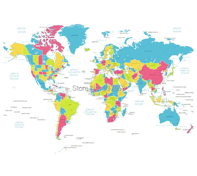 New arrival 2015 world map fashion terylene shower curtain new arrival 2015 world map fashion terylene shower curtain waterproof curtain loo bathroom travel family cool gumiabroncs Gallery