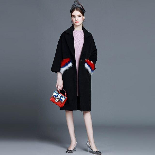 1fb8798c2fbe0 ALLER PLUS LOIN costume de 2017 Automne et d hiver femmes valise manteau  lâche lâche