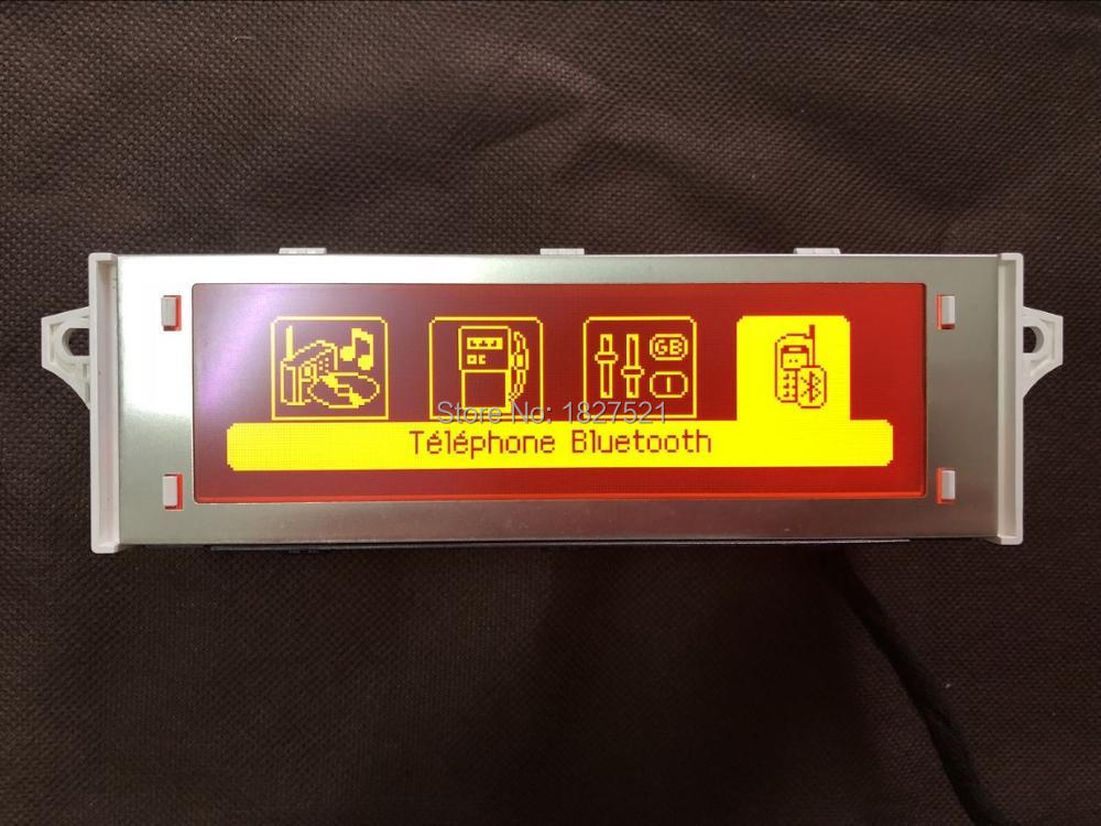 D'origine de Haute Qualité Support USB Bluetooth 4 Menu Affichage Écran Rouge Moniteur 12 broches pour Peugeot 307 407 408 citroen c4 C5
