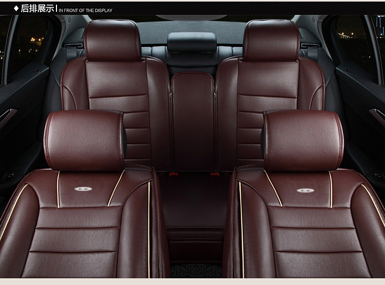 Red Brown New Brand Luxury Pu Leather Car Cushion Cover Front And Rear Complete Seat For Universal Four Seasons In Automobiles Covers