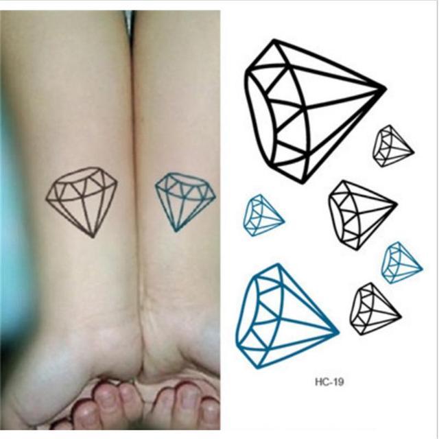 Nuevo Tatuaje Moda De Diamante Tatuaje Arte Corporal Temporal
