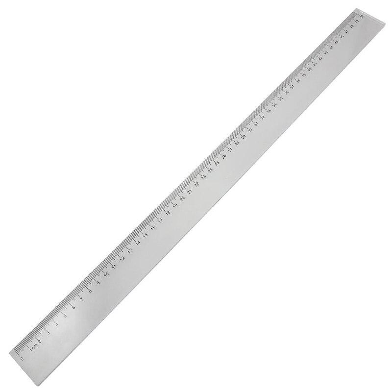 50cm Clear Plastic Measuring Long Straight Centimeter Ruler
