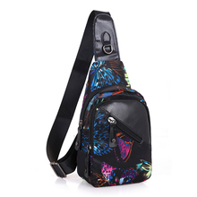 Exquisite Floral Patterned Waterproof Leather Sling Bag