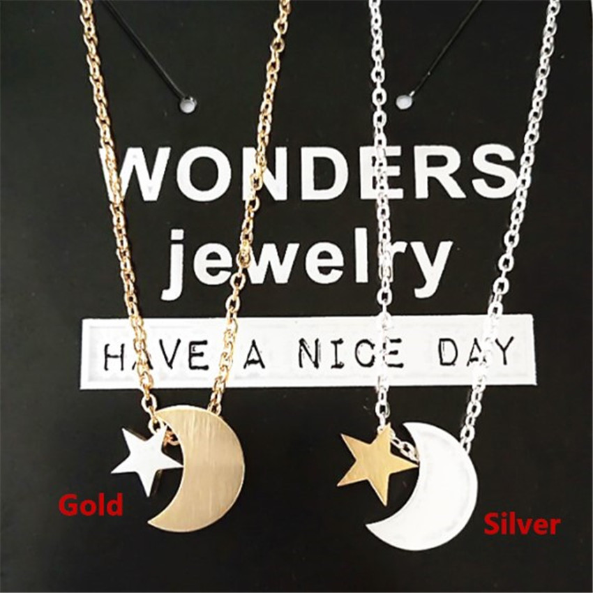 Cadena de acero inoxidable Bijoux Femme Moon & Star Heart Puzzle - Bisutería - foto 3