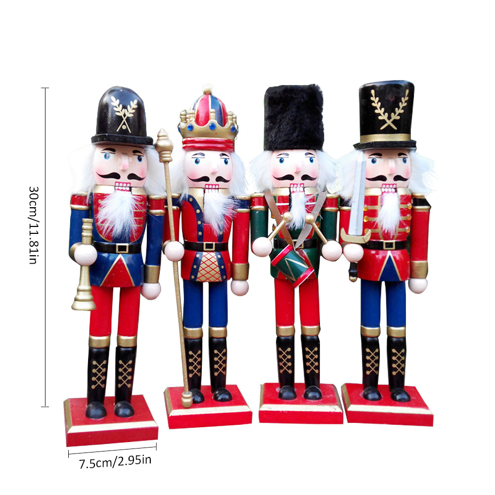 1pcs 4 pcs Christmas Decorations Nutcracker Puppet Soldiers Shape ...
