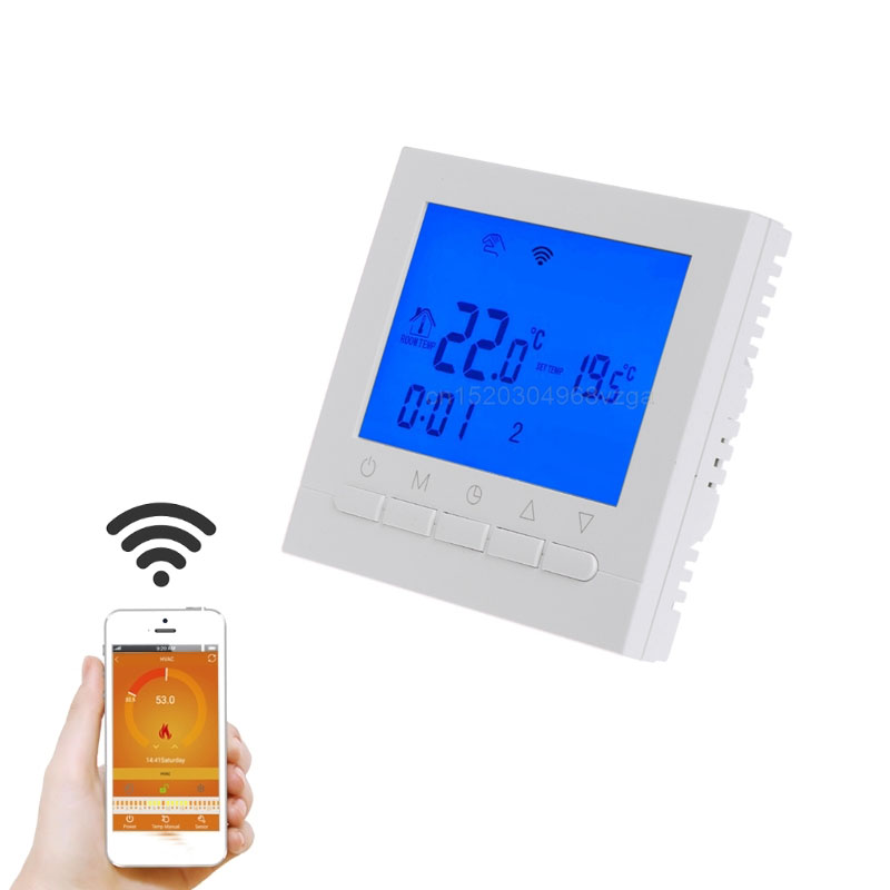 купить 16A AC 220V WIFI Gas Boiler Heating Thermostat Water/Electric Heating System WIFI Thermostat APP Controls J12 dropshipping по цене 1632.22 рублей