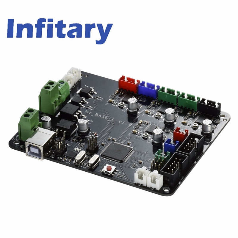 Infitary Upgraded 3D Printer Motherboard Makerbot Circuit Board Main Controller Panel Driver 3d Mainboard for 3D Printer