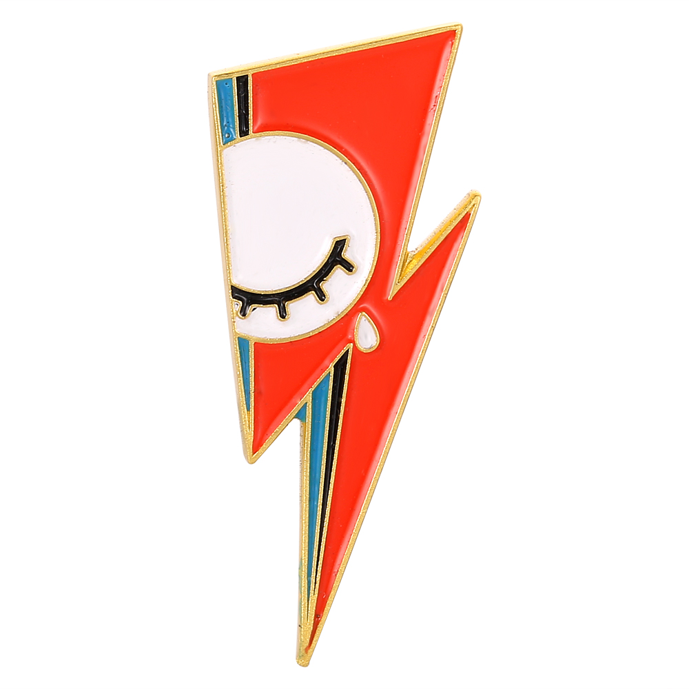 David Bowie Enamel Pin Lightning Bolt Badge Brooches-in Pins ...