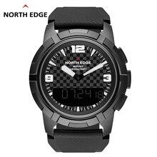 Mens Smart Mechanical Watches NORTH EDGE Men Sport Watch Stainless Steel Male Dual display Waterproof Clock Military Wristwatch
