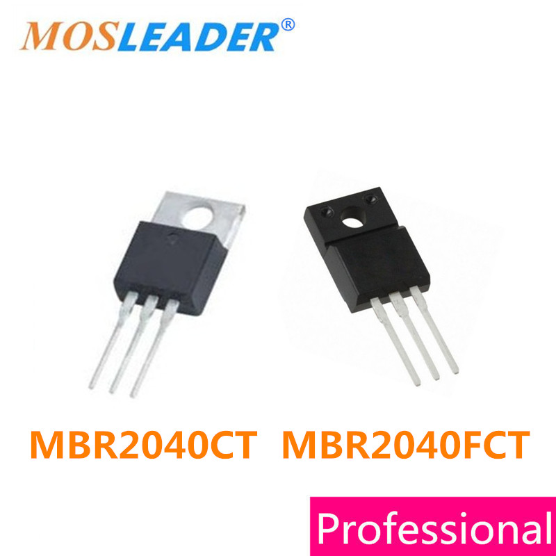 Mosleader 50PCS MBR2040CT TO220 MBR2040FCT TO220F MBR2040 High Quality