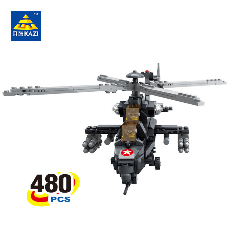 2017 KAZI Military Helicopter Blocks 480pcs Bricks Building Blocks Sets Education Toys For Children 2017 kazi 98405 wz 10 military helicopter blocks 480pcs bricks building blocks sets enlighten education toys for children