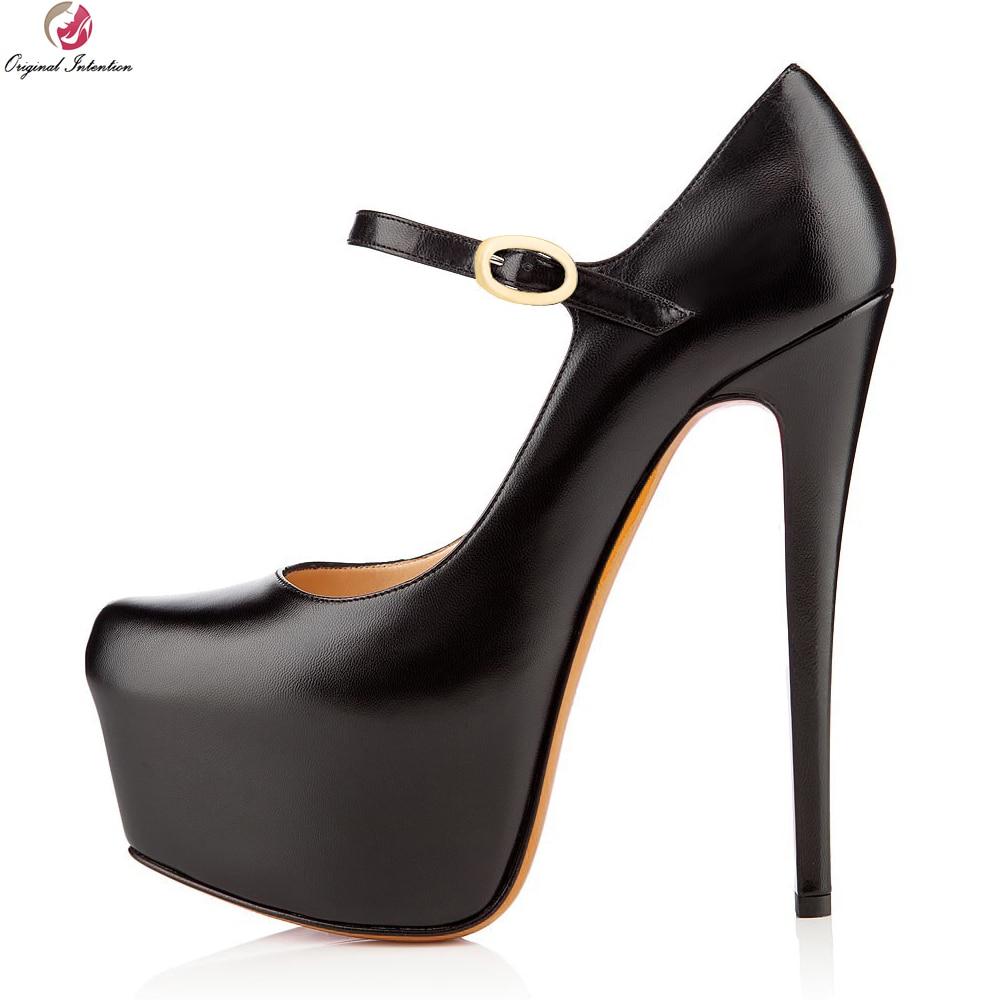 Original Intention Fashion Women Pumps Round Toe Thin High Heels Pumps Stylish Black Nude Purple Shoes