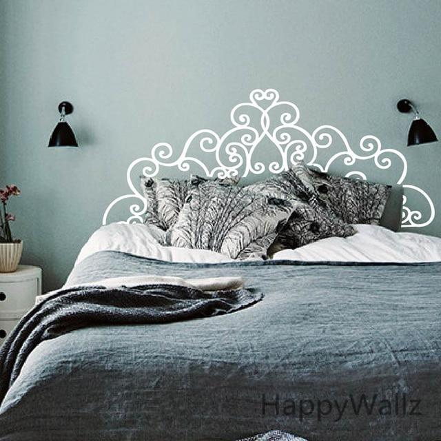 Kopfteil Wandaufkleber Schlafzimmer Moderne Kopfteil Wandtattoo DIY ...