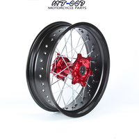 5.0*17 SUPERMOTO Rear WHEELS RIMS SET FOR HONDA CRF250R 2004 2013 CRF450R 2002 2012 2011 2010 2009 2008 2007 2006 2005 RED HUB