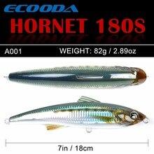 Ecooda Hornet 180mm 82g Vissen Popper Saltwater lure Topwater Trolling big Potlood Lokken Harde aas Drijvende Voor Kingfish /tonijn
