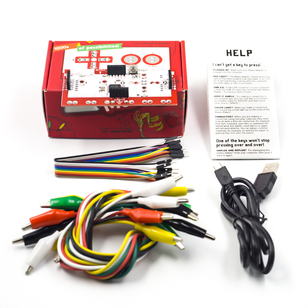 Mk Set Deluxe Kit With Usb Cable Dupond Line Alligator Clips For Children With Instruction And Red Retail Box
