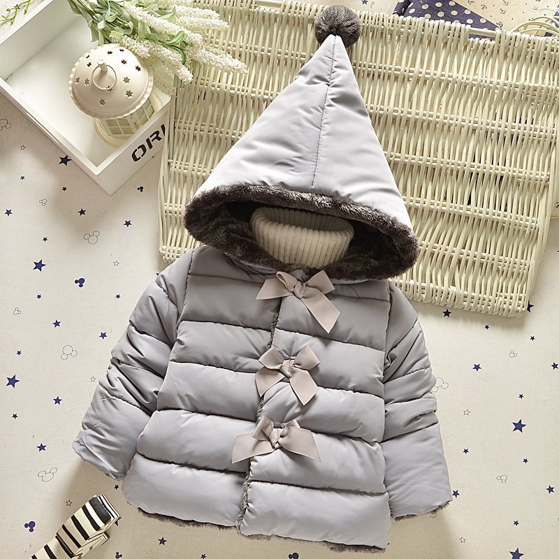 2016 New Baby Girl Clothes Winter Autumn Thickening Baby Cotton Clothing Children Fashion Coats Hooded Kids