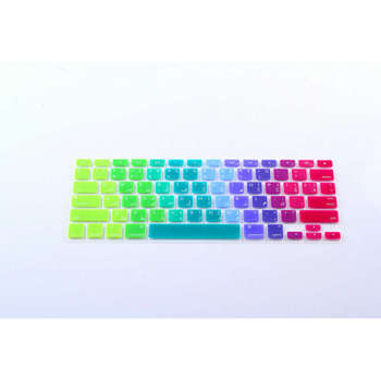 10 XArabic Letter US Rainbow Silicone Keyboard Cover Skin Protector Protective Film for Apple MacBook Pro Retina Air 13 15 17