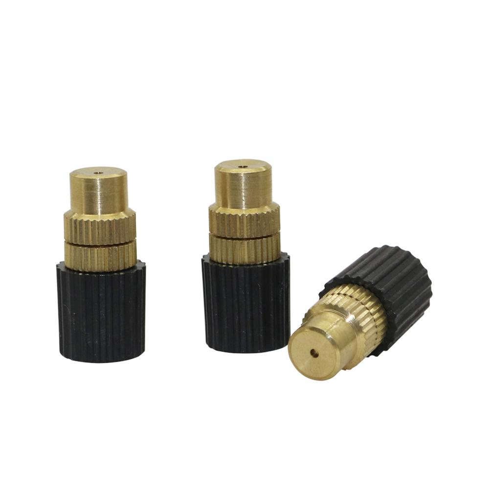 3 Pcs Adjustable Inner Diameter 6mm Brass Misting Nozzles Garden Irrigation Agriculture Industry Cooling Humidifying Sprinklers